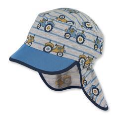Jungen Schirmmütze, Sommermütze mit Nackenschutz, UV-Schutz 50+, grau - 1611943