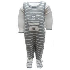Baby Strampler-Set mit Body Jungen, Grau