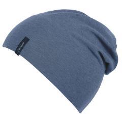 Jungen Kinder Mütze Slouch-Beanie Übergangsmütze einfarbig, jeansblau meliert - 4001672-jeans
