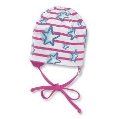 Baby Mütze Wendebeanie Mädchen gestreift Sternenmuster, rosa - 1501804p