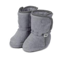 Baby Schuhe Stiefel Jungen gefüttert mit Gummizug und Klettverschluss gefüttert, silber mel. - 5101821