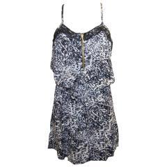 Sommerkleid Mädchenkleid Festkleid gemustert, weiß-schwarz
