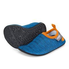 """Jungen Aqua-Schuhe Wasserschuhe mit elastischem Bund und rutschfester Sohle """"melange"""", blau – 2512011"""