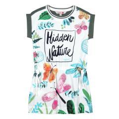 Boboli Mädchen Sommerkleid mit Natur-Motiv, weiß - 457141