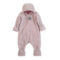Baby Overall Mädchen Fleece mit Reißverschluss Hand- und Fußstulpen, rosa mel. - 5501800-rosa