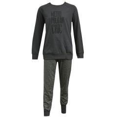 Schiesser Mädchen Zweiteiliger Schlafanzug Lang, graphit - 158876