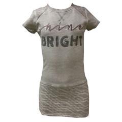 Mädchen kurzarm Kleid, grau