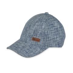 Jungen Schirmmütze Cappi gemusterter Stoff, jeansblau - 1621802