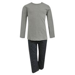 Jungen Zweiteiliger Schlafanzug Lang, grau - 244026