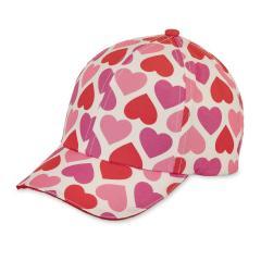 """Mädchen Baseball Cap Cappi Sonnenhut mit LSF UV-Schutz 50+ """"Herzen"""", rot/pink – 1422000"""