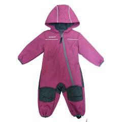 Baby Kinder Mädchen Softshell-Overall Schneeanzug gefüttert wasserdicht 10.000 mm Wassersäule atmungsaktiv winddicht, berry mel. - 1414403167