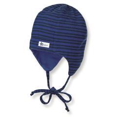 Jungen Mütze zum binden mit  Ohrenschutz von Sterntaler, dunkelblau - 4501740db
