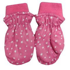 Fäustlinge Kinder Thermo-Handschuhe Mädchen Sterne gefüttert, pink - 9503226