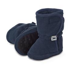 Baby Schuhe Stiefel Jungen gefüttert mit Gummizug und Klettverschluss gefüttert mit Streifen, marine - 5101822