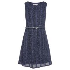"""Mädchen Festmode festliches Kleid kurzarm """"gepunktet"""", dunkelblau -504210"""