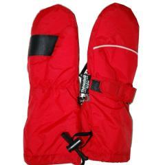 Fausthandschuhe Jungen und Mädchen Wasserdicht Fleece, rot