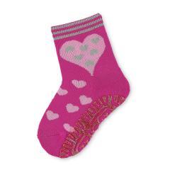 Mädchen Anti-Rutsch-Socken Fliesenflitzer Herzen, pink - 8031814