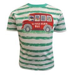 T-Shirt Kurzarmshirt Baby Jungen kurzarm gestreift Farm Bus, grün - 73212125