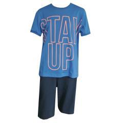 """Jungen Schlafanzug kurzarm """"Stay Up"""", blau - 244197"""
