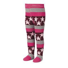 Mädchen Strumpfhose Thermo Strumpfhose mit Sternen von Sterntaler, pink - 8721700p