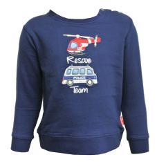Baby Jungen Langarmshirt Sweater mit Knöpfen, dunkelblau - 75211120