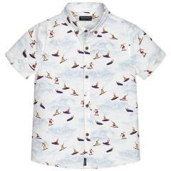 Jungenhemd Hemd kurzarm Surfer, mehrfarbig - 6150