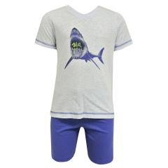 Sanetta Jungen zweiteiliger Sommer Schlafanzug, blau -  231975