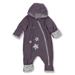 Baby Overall Mädchen Fleece Sternapplikation, brombeer - 5501701