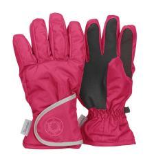 """Mädchen Fingerhandschuh Thermo-Handschuh mit reflektierendem Klettverschluss wasserdicht """"Schneeflocke"""", magenta - 4321811"""