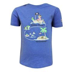 Baby Jungen T-Shirt Kurzarm-Shirt wilder Pirat, blau - 73212118