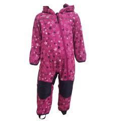 """Outburst Baby Kinder Mädchen Softshell-Overall Schneeanzug gefüttert wasserdicht 10.000 mm Wassersäule atmungsaktiv winddicht """"Sterne Herzen"""", lila - 3714272"""