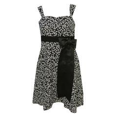 Festkleid Mädchenkleid Kleid, schwarz-weiß