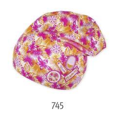 Beanie Mädchen Übergangsmütze Blumenmuster, 2-farbig