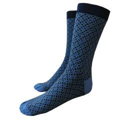 Jungen Socken gemustert, mittelblau
