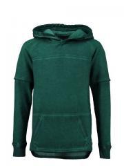 Jungen Sweater mit Kapuze, grün - H73664