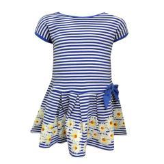 Mädchen Sommerkleid Abendkleid gestreift, blau - mf20057