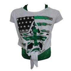 BlueEffect Mädchen kurzarm t-shirt set mit Flaggen-Motiv, grün - 1191-5340