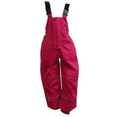 Outburst Mädchen Regenhose ungefüttert Matschhose mit Latz wasserdicht 10.000 mm Wassersäule atmungsaktiv winddicht, pink - 4860330