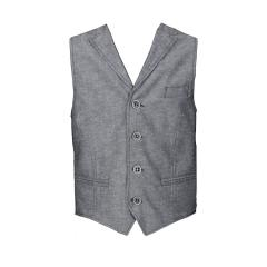 Jungen festliche Weste Slim Fit (ohne Hemd u. Krawatte), schwarz-grau - 1929905slim