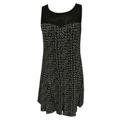Festliches Kleid Mädchen gemustert, schwarz