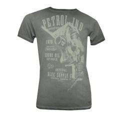 Jungen T-Shirt kurzarm mit weißem Aufdruck, Grau