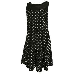 Festliches Kleid Mädchen gepunktet, schwarz
