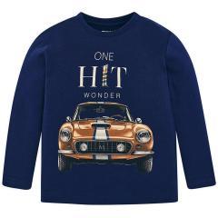 Jungen Shirt mit langen Ärmeln Automotiv, dunkelblau - 4.012db