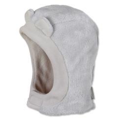 Jungen Baby Mütze Schalmütze mit Öhrchen Fleece von Sterntaler, hellgrau - 4501821