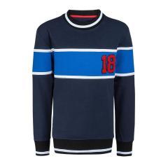 Jungen Sweater Pullover mit Rundhals, dunkelblau - 6804