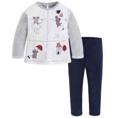 Mädchen Sweatshirts 2-Teiler mit Leggings, 3-farbig - 4731