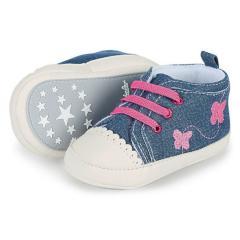 Baby Mädchen Schuhe Krabbelschuhe Schmetterling, blau - 2301912-marin