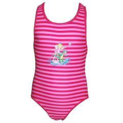 Prinzessin Lillifee Mädchen Badanzug gestreift, pink-rosa
