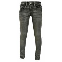 Mädchen Jeans Hose Washed Look, grau