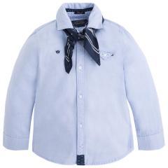 Jungen Hemd mit langen Ärmeln Langarmhemd, blau - 4.135